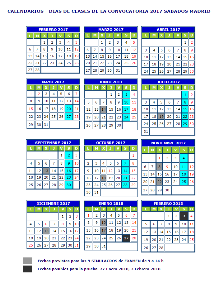 calendario-sabados-madrid
