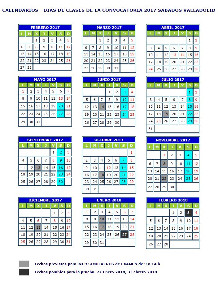calendario-sabados-valladolid