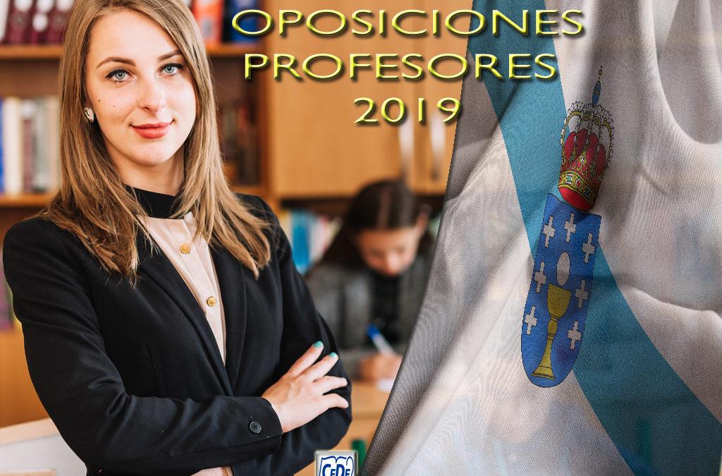 Galicia: Convocadas oposiciones profesores 2019