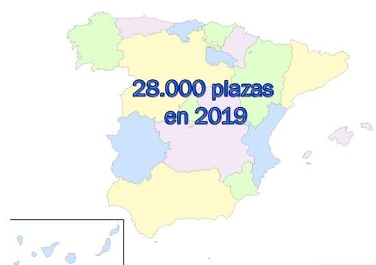 Educación convocará más de 28.000 plazas en 2019.