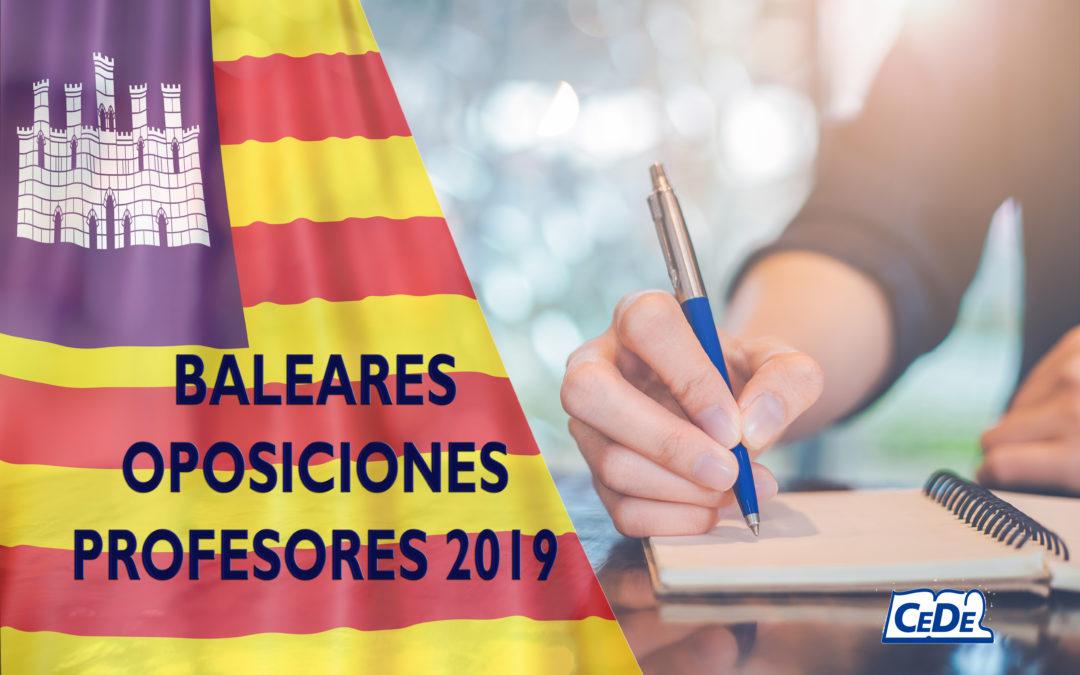 Baleares: Novedades en las oposiciones educación 2019