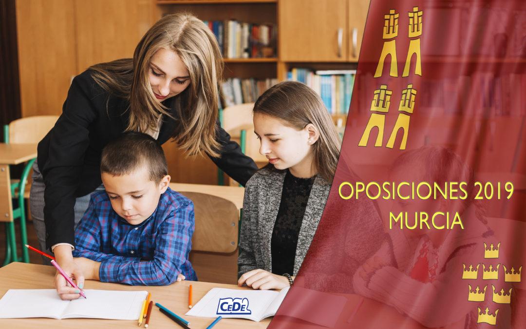 Murcia: convocadas oposiciones al cuerpo de Maestros