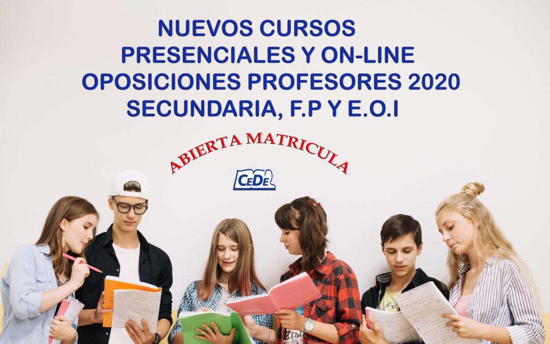 Cursos presenciales y on-line preparación oposiciones profesores