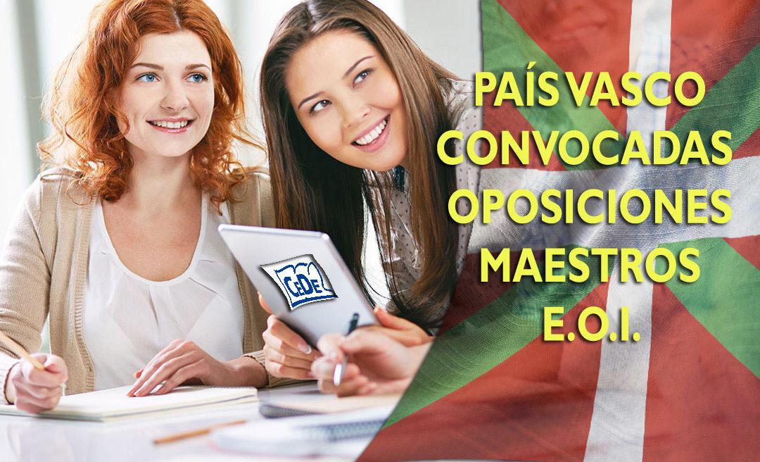 País Vasco: Convocadas oposiciones maestros 2019