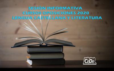 Sesión Informativa: oposiciones Lengua Castellana y Literatura