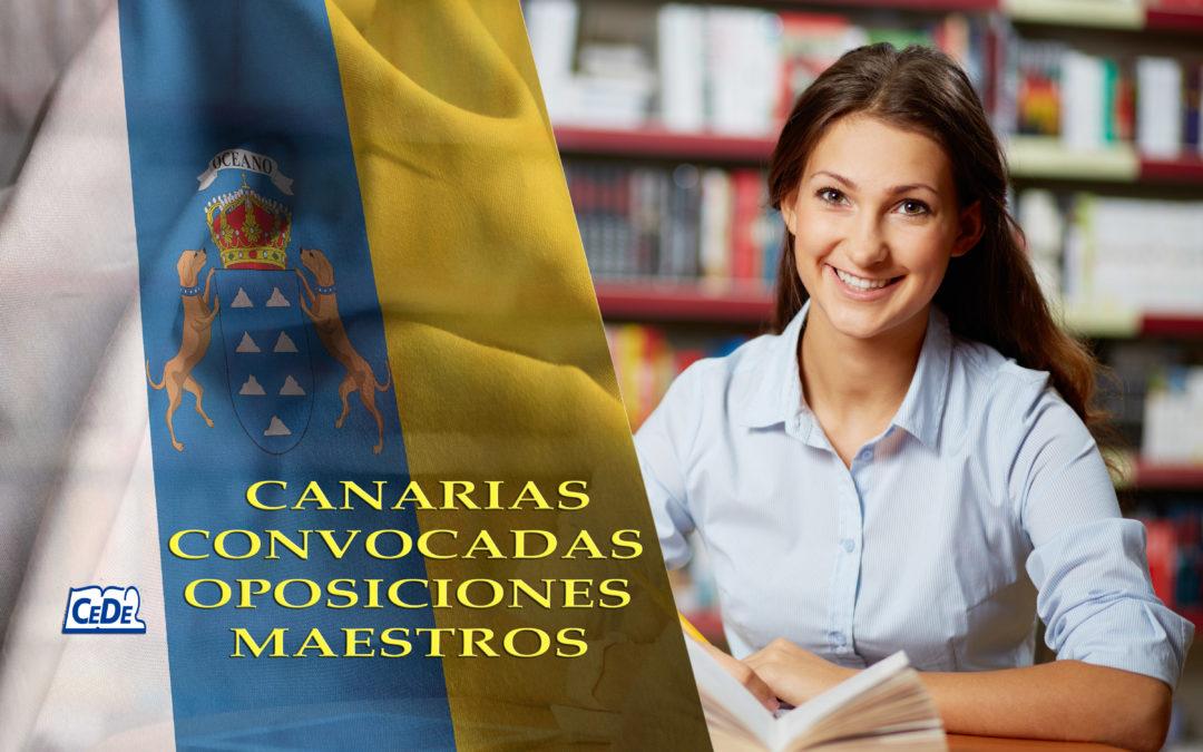 Canarias: Convocadas oposiciones al cuerpo de maestros
