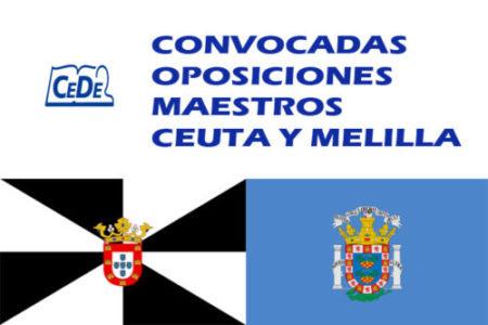 Ceuta y Melilla: convocadas oposiciones maestros
