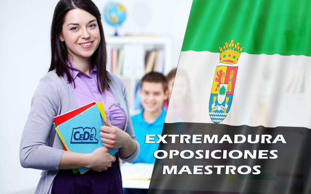 Extremadura: convocadas oposiciones maestros 2019