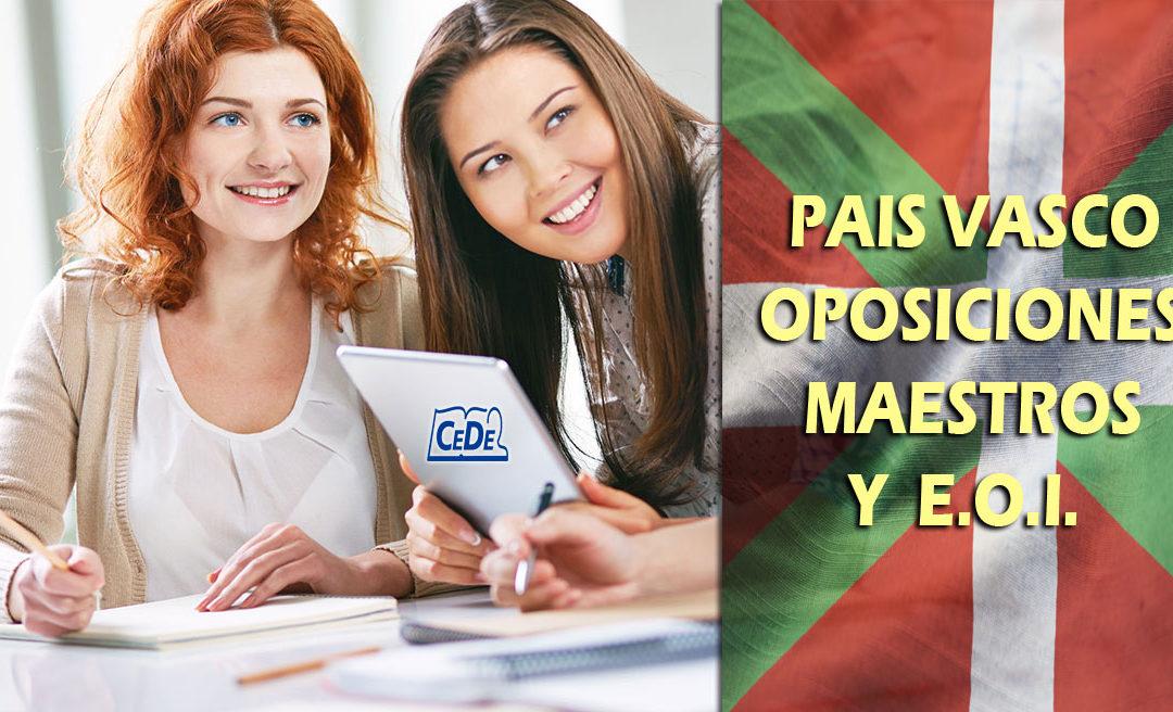 País Vasco: Listas provisionales de admitidos oposiciones maestros