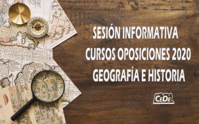 Sesión informativa: oposiciones Geografía e Historia
