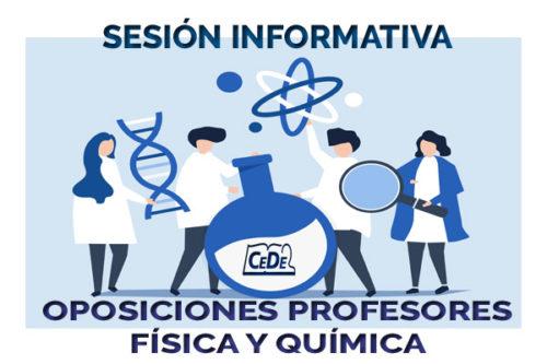 Sesión informativa oposiciones profesores Física y Química