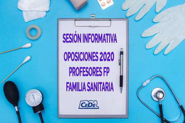 Sesión informativa oposiciones profesores FP Sanitaria
