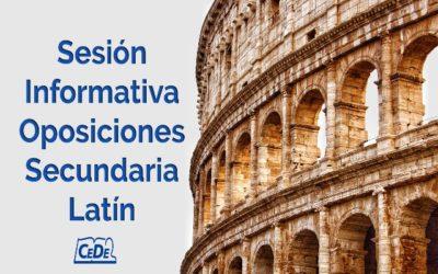 Sesión informativa oposiciones secundaria Latín