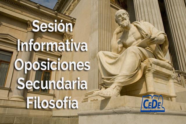 Sesión informativa oposiciones secundaria Filosofía