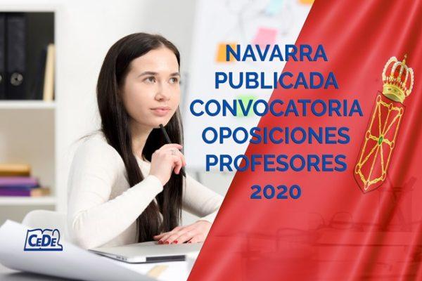 Navarra publicada convocatoria oposiciones profesores