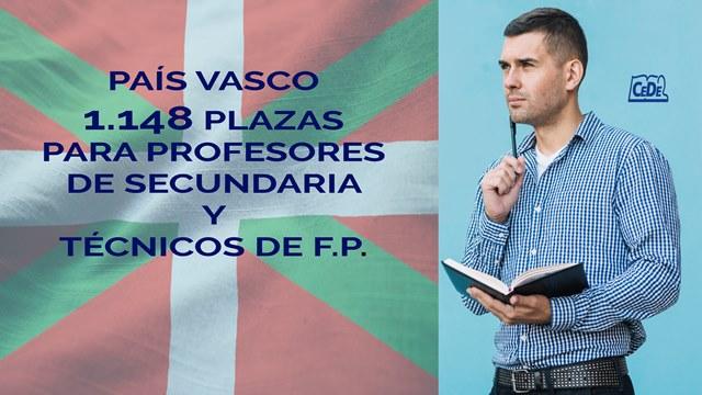 País Vasco 1148 plazas para profesores en 2020