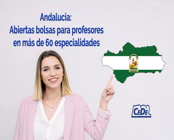 Andalucía: Abiertas bolsas en mas de 60 especialidades