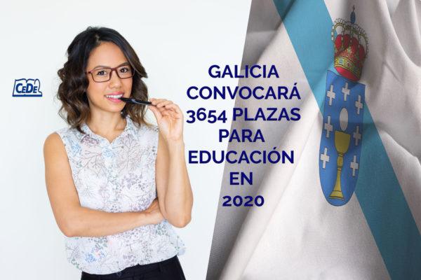 Galiciaconvocará 3654 plazas para Educación en 2020