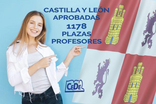 Castilla y León aprobadas 1178 plazas para profesores 2020