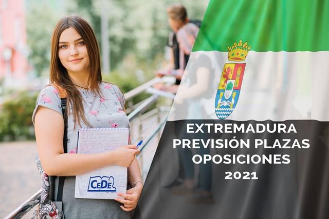 Extremadura previsión plazas educación 2021