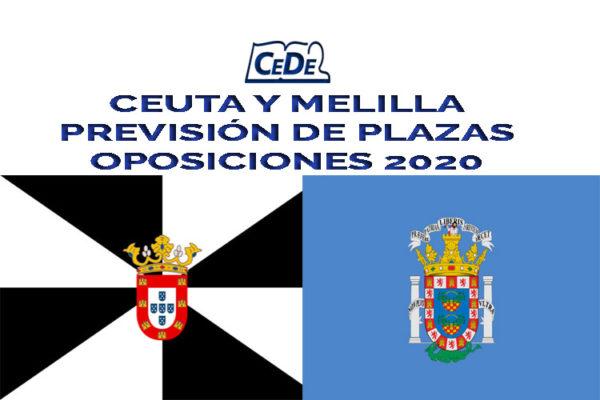 Ceuta y Melilla previsión de plazas oposiciones secundaria 2020