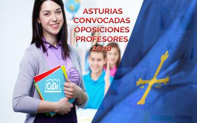 Asturias convocadas oposiciones profesores 2020