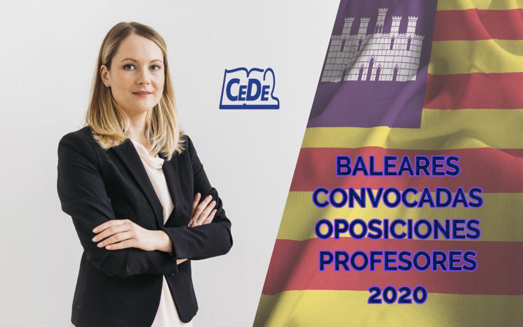 Baleares convocadas oposiciones a profesores 2020
