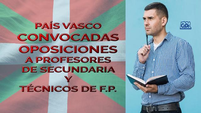 Pais Vasco convocadas oposiciones profesores 2020