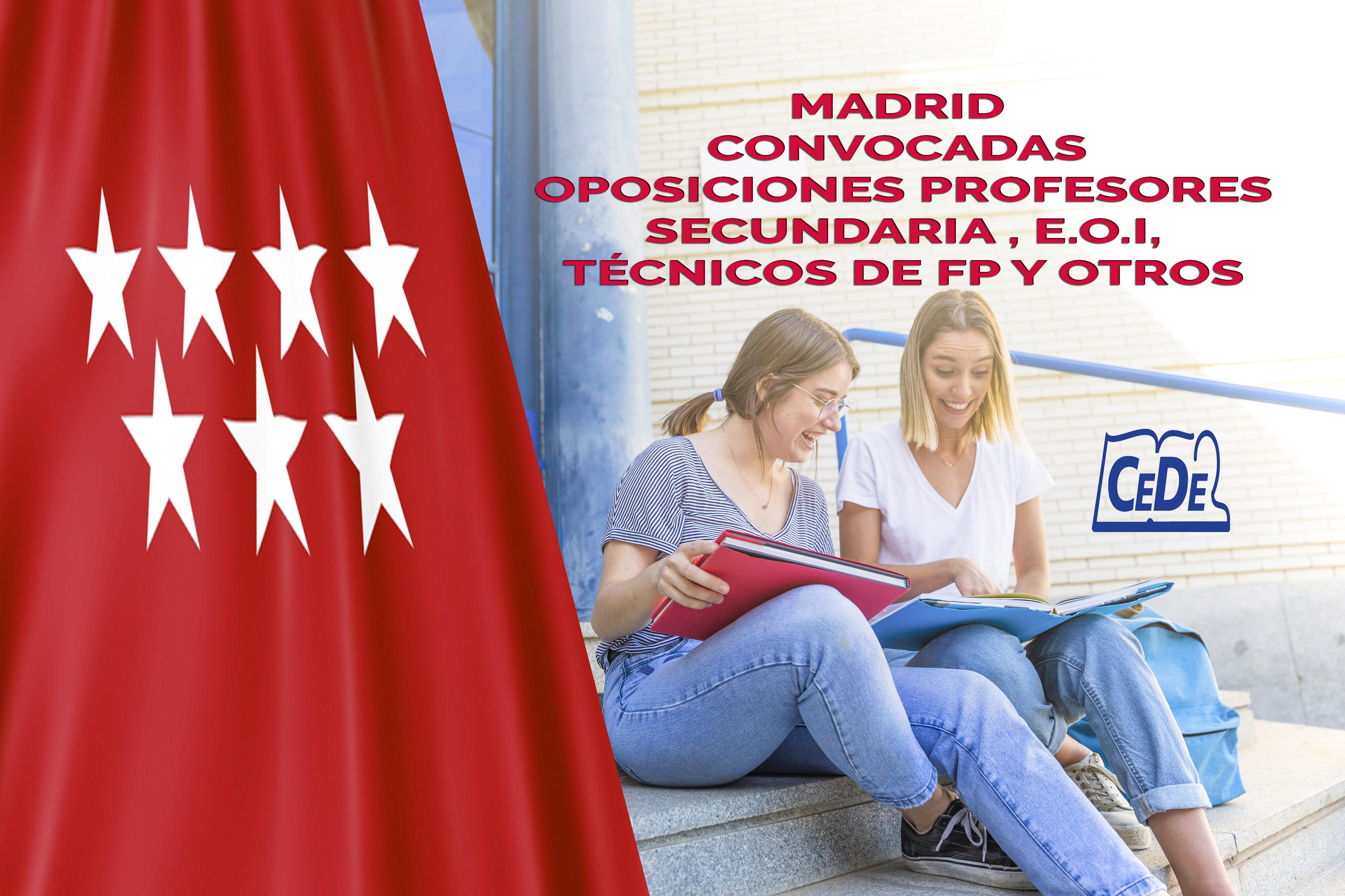 Comunidad de Madrid convocadas oposiciones profesores