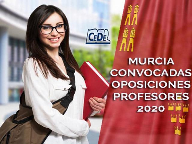 Murcia convocadas oposiciones profesores 2020