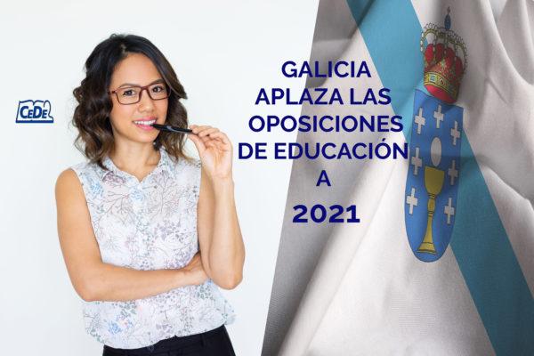 Galicia aplaza las oposiciones de profesores a 2021