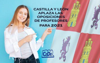 Castilla y León aplaza las oposiciones de profesores a 2021