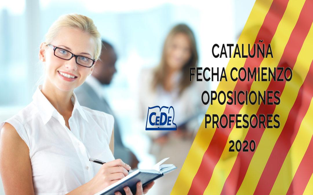 Cataluña fecha comienzo de las oposiciones