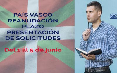 País Vasco: reanudación plazo presentación de solicitudes
