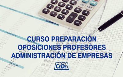 Curso preparación oposiciones Administración de Empresas