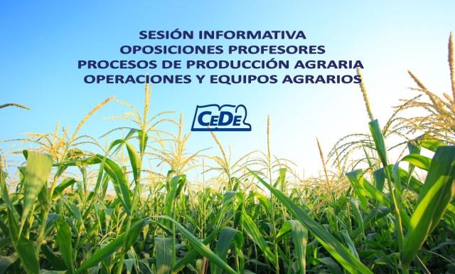 Procesos de producción y Operaciones Agrarias