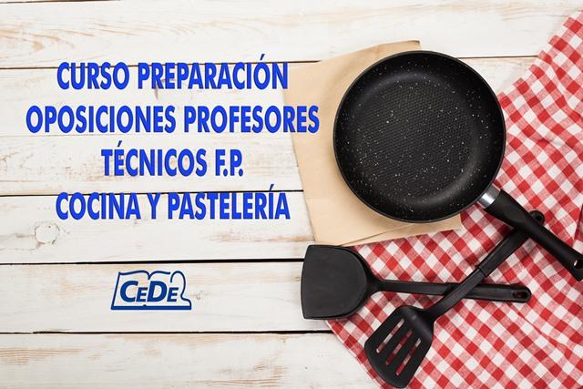 Curso preparación oposiciones Cocina y Pastelería