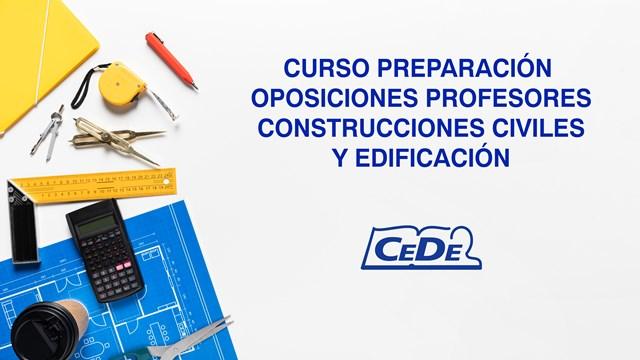 Curso preparación oposiciones Construcciones Civiles y Edificación