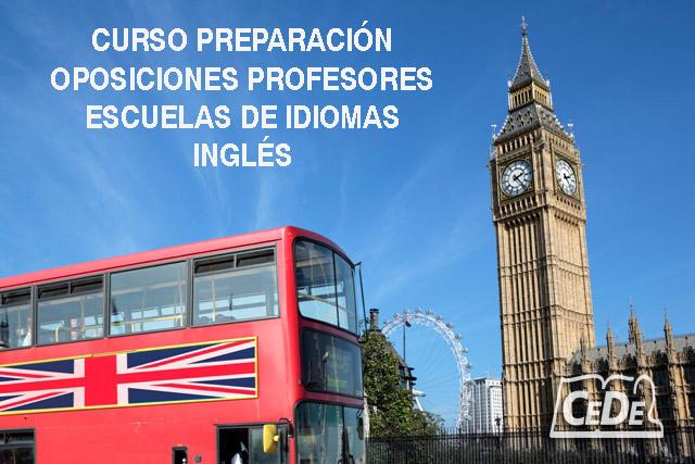 Curso preparación oposiciones Escuelas de Idiomas Inglés
