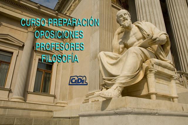 Curso preparación oposiciones profesores Filosofía