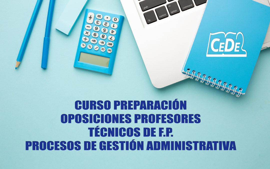 Curso preparación oposiciones Procesos Gestión Administrativa