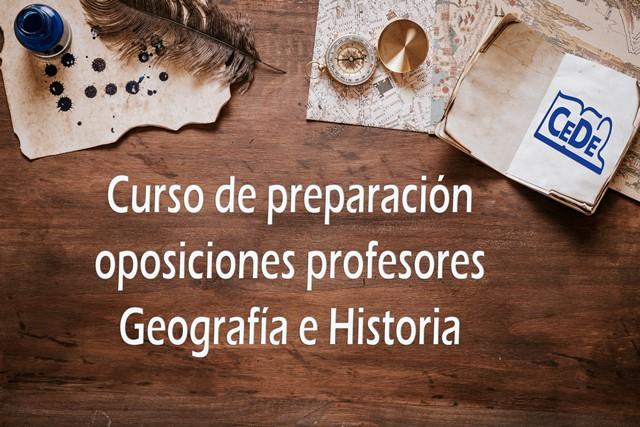 Curso preparación oposiciones Geografía e Historia