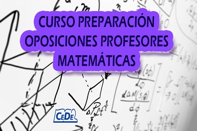 Curso preparación oposiciones Matemáticas