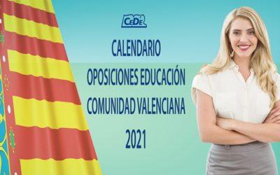 Comunidad Valenciana: Calendario oposiciones profesores 2021