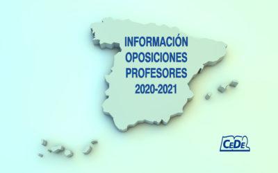 Últimas noticias oposiciones a profesores 2020-2021