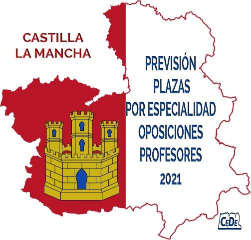 Castilla La Mancha previsión de plazas por especialidad oposiciones profesores 2021