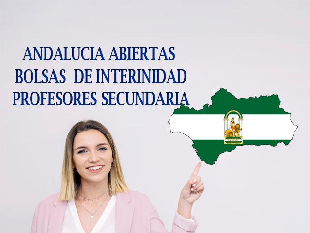 Andalucía abiertas bolsas interinidades profesores secundaria