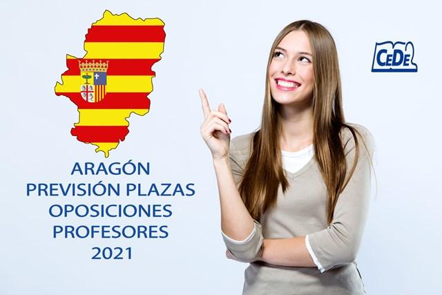 Aragón distribución de plazas oposiciones profesores 2021