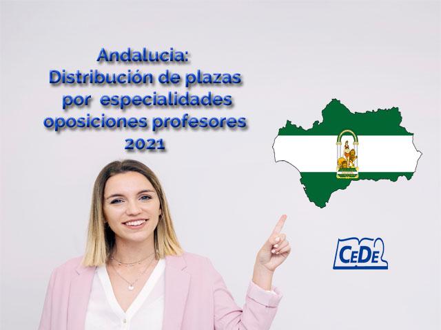 Andalucía distribución definitiva de plazas