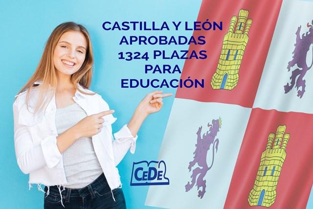 Castilla y León aprobadas 1324 plazas para educación